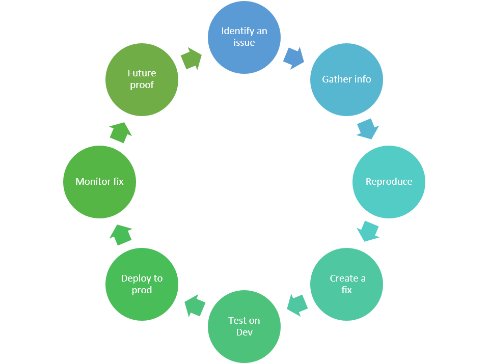 SAP troubleshooting cycle