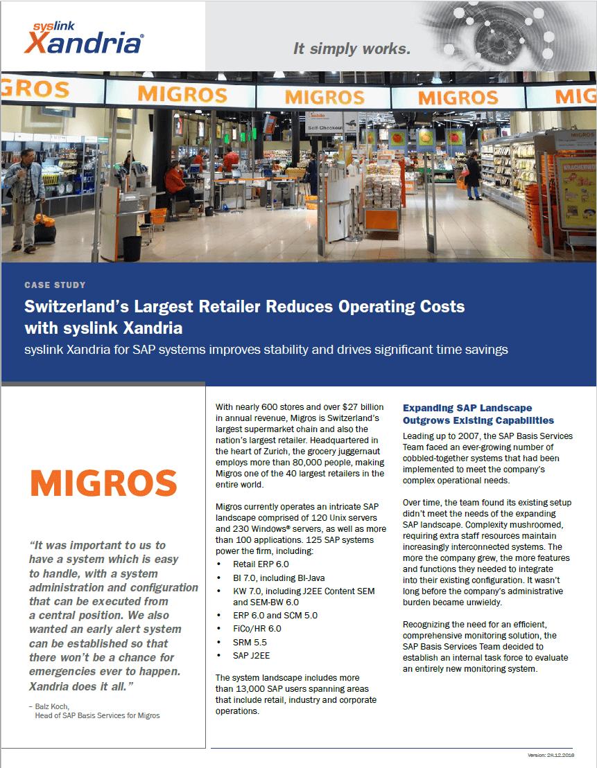 MIGROS case study - preventing SAP production failures