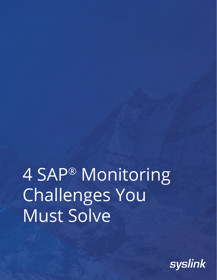 SAP monitoring white paper