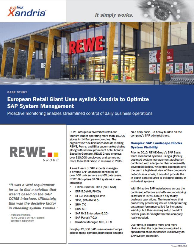 REWE Group case study optimizing SAP system management