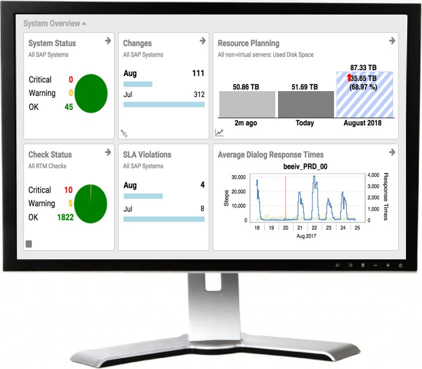 SAP performance dashboard