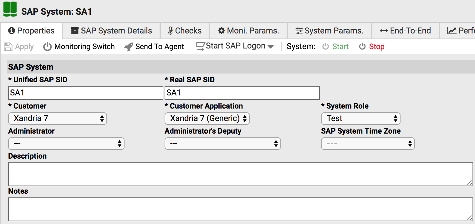 Start/stop SAP system for planned mainteancne